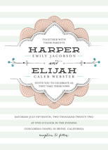 Striped Sweet Nothings Wedding Invitations By Frooted Design