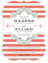 Striped Sweet Nothings Wedding Invitations