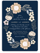 Botanical Wreath Wedding Invitations