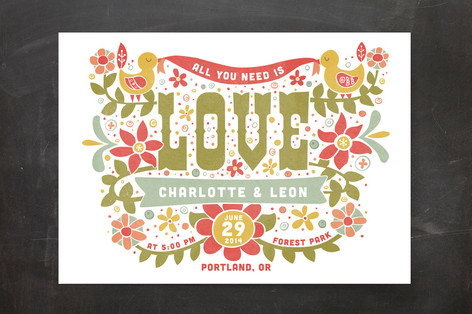 Woodstock All You Need Is Love Wedding Invitations