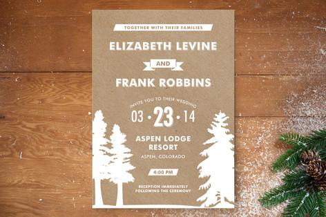 Winter Lodge Wedding Invitations