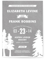 Winter Lodge Wedding Invitations