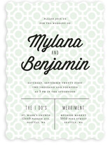 Mod Dots Wedding Invitations