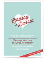 I Heart You Wedding Invitations