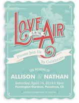 Love is in the Air Wedding Invitations
