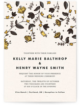 Bud and Blossom Wedding Invitations