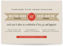 Kraft Label Wedding Invitations