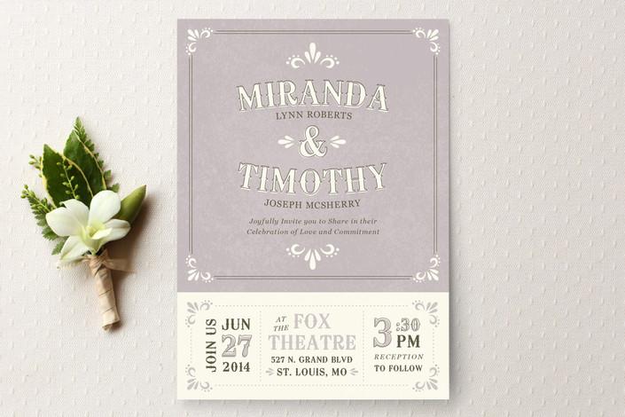 Свадебные приглашения Marquee