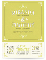 Marquee Wedding Invitations