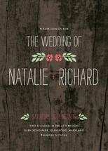 In the Park Wedding Invitations By Amanda Larsen Design