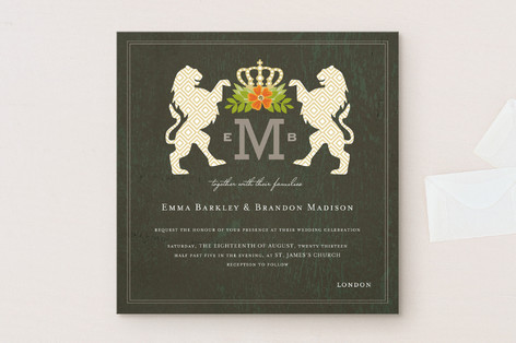 Royal Monogram Wedding Invitations