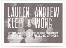Bokeh Bride Wedding Invitations