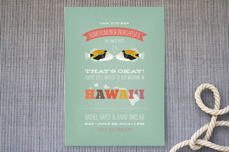 Humuhumu 10x Wedding Invitations