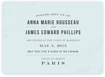 PARIS Wedding Invitations