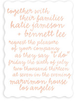 Charm School Wedding Invitations
