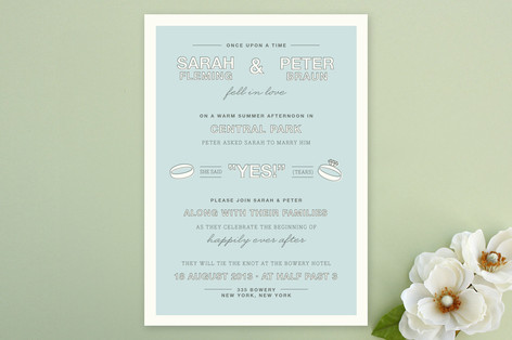 Fell in Love Wedding Invitations