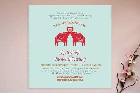 Elephant Wedding Invitations Elephant Heart Wedding