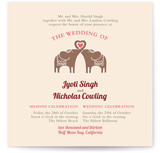 Elephant Heart Wedding Invitations