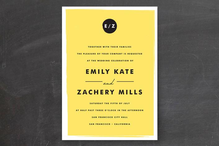 17 sunny yellow wedding invitations | indie wedding guide, Wedding invitations