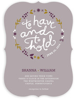 To Have and To Hold Wedding Invitations