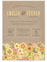 Burlap Bouquet Wedding Invitations