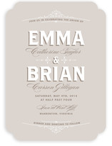 Vintage Charm Wedding Invitations