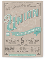 A Blessed Union Wedding Invitations