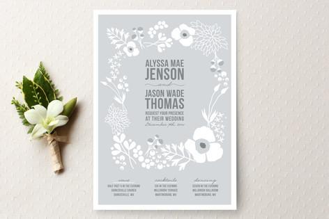 Winter Florals Wedding Invitations