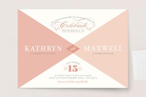 Mingle Graphic Wedding Invitations
