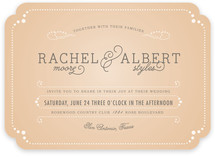 Vintage Tray Wedding Invitations