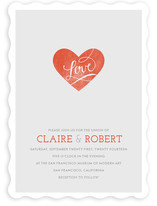 Heart on Our Sleeves Wedding Invitations