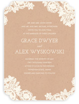 Lace and Kraft Wedding Invitations