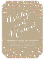 Golden Glittering Confetti Wedding Invitations