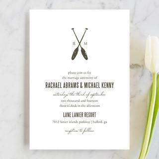 Lakeside Oars Wedding Invitations