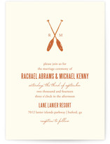 Lakeside Oars Wedding Invitations