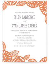 Bold Block Print Wedding Invitations