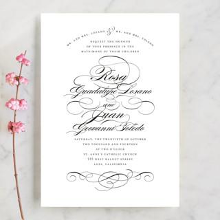 Formal Ink Wedding Invitations