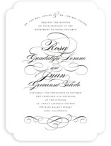 Formal Ink Wedding Invitations