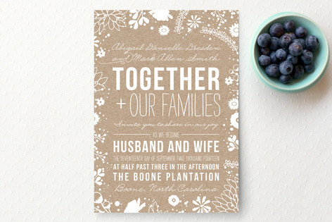 Craft And Florals Wedding Invitations By Bethany A Minted