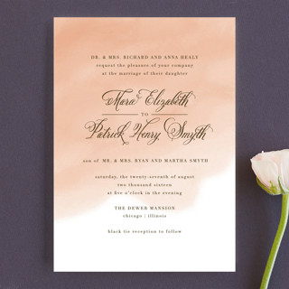 Watercolor Wash Wedding Invitations
