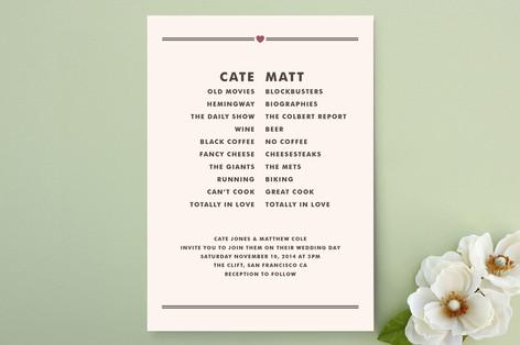 Opposites Attract Wedding Invitations