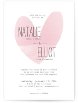 Typewritten Heart Wedding Invitations