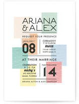Swatches Wedding Invitations