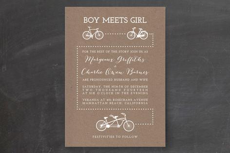 Bicycle Love Wedding Invitations