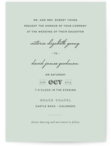 Plain Jane Wedding Invitations