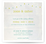 Backyard Tent Watercolor Wedding Invitations