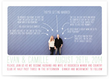 Timeline of Events Wedding Invitations