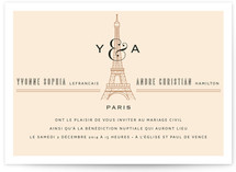 Classic Eiffel Tower Wedding Invitations