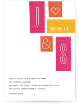 Jet Set Wedding Invitations