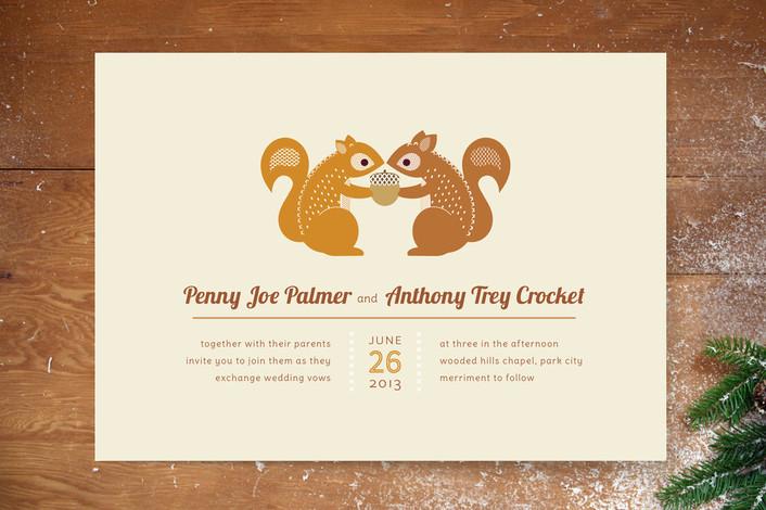 squirrel wedding invite